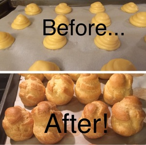 cream puffs before after